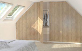 Kleiderschrank Dachboden mit Dachschrägen
