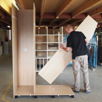 Schrankaufbau Tischlerei schrankwerk