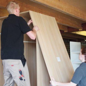 Aufbau eines Dachschrägenschrankes