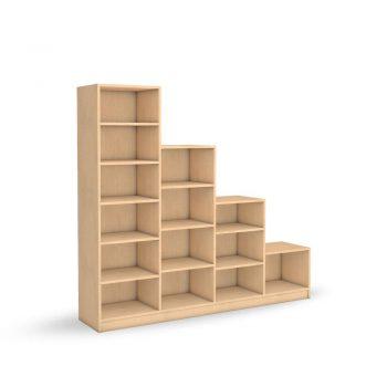 Bücherregal als Stufenregal online planen bei schrankwerk