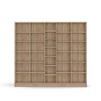 Bücherwand in Eiche nach Maß konfigurieren