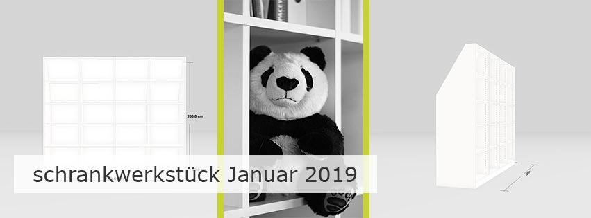 schrankwerkstück Januar 2019