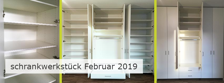 schrankwerkstück Februar 2019