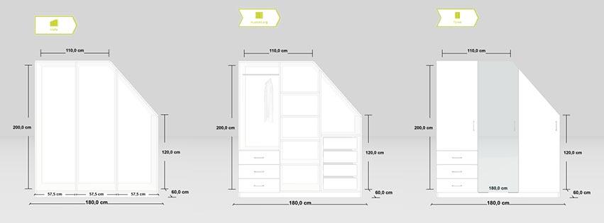 Designinspiration Dachschrägenschrank
