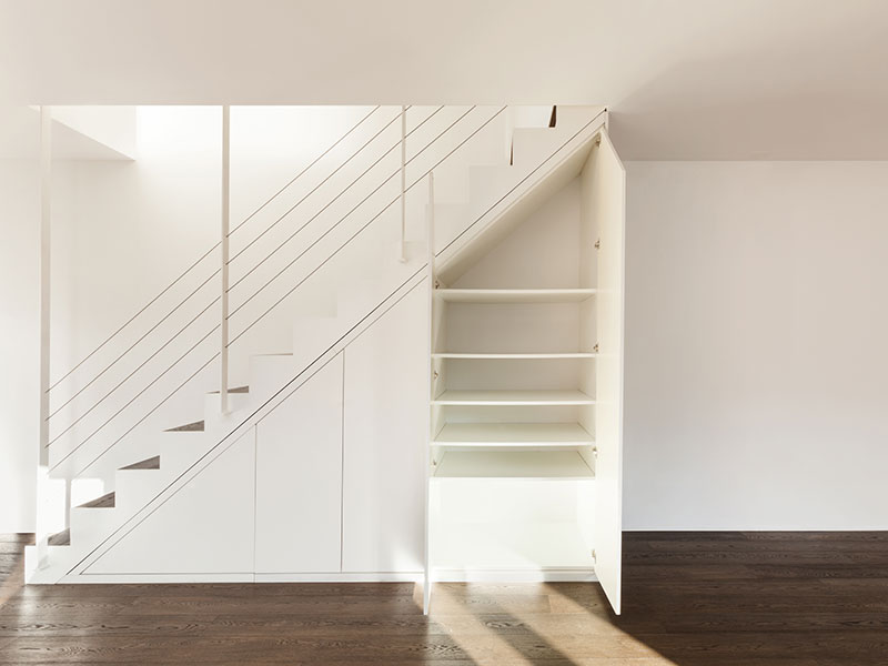 treppenunterbauschrank weiß