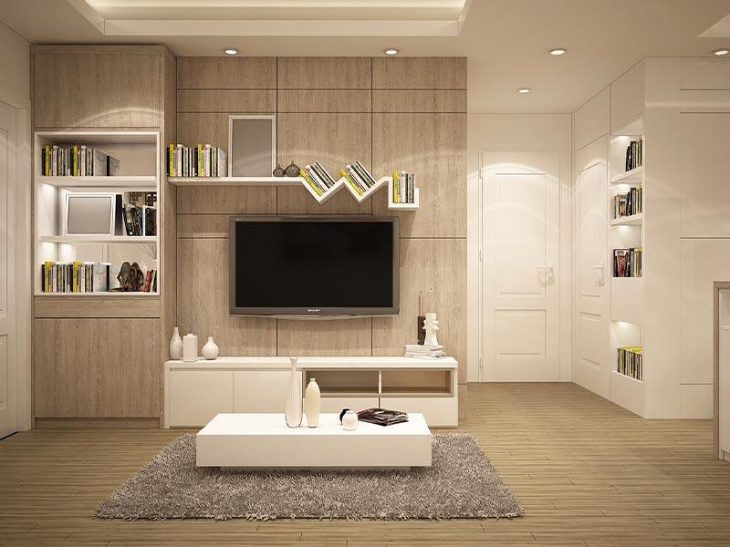 modernes wohnzimmer hell