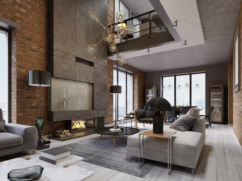 Wohnzimmer offen modern