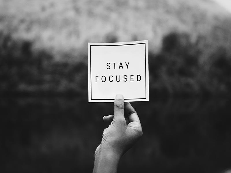 Ziel nicht aus den Augen verlieren