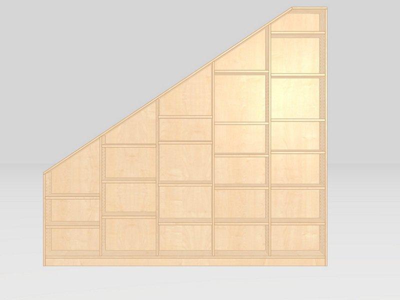 bücherwand dachschräge konfiguratoransicht