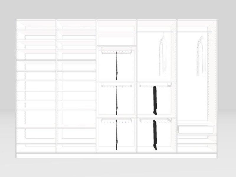 schrankwerkstück Kleiderschrank Konfiguratoransicht