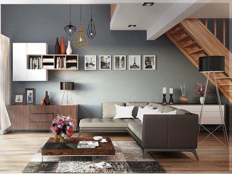 Wohnzimmer in skandinavischen Design.