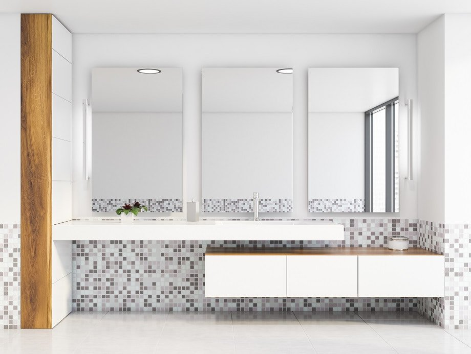 asymmetrie im badezimmer