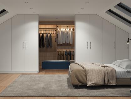 Ganz schön schräg: Ankleidezimmer unter dem Dach