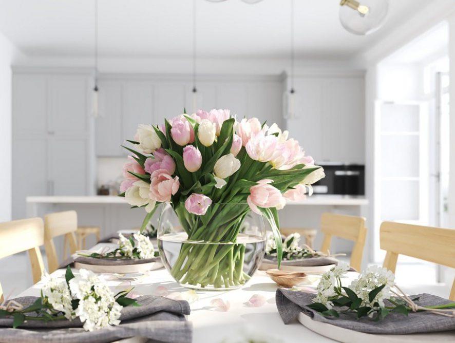 Einrichten und dekorieren in Frühlingsfarben