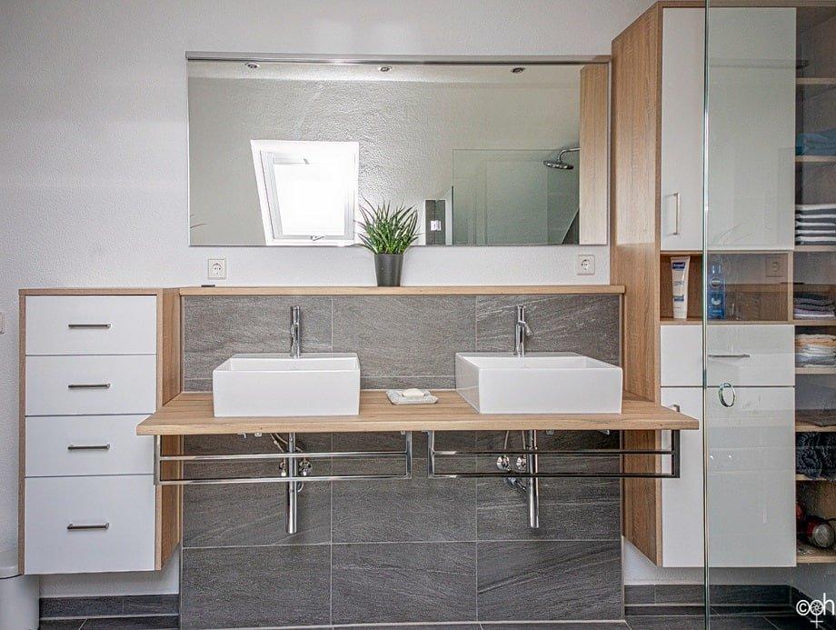 waschbecken mit maßschränken neues badezimmer
