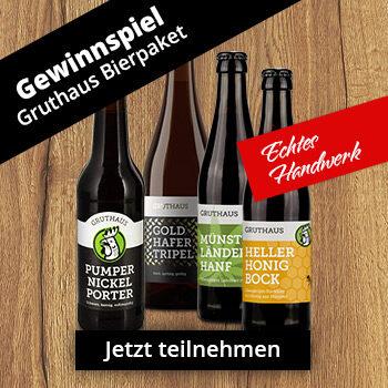 Gewinnspiel Gruthaus Bierpaket