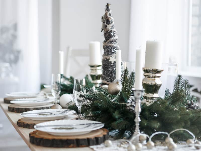 weihnachtliche-tischdekoration