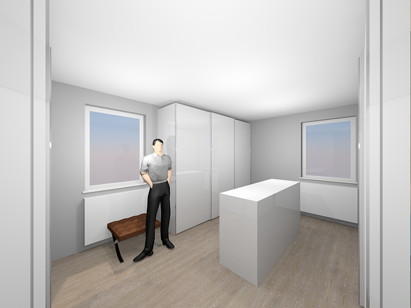 Garderobenzimmer im CAD-Programm