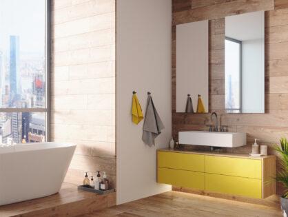 Trends im Badezimmer: Metallisch, farbenfroh und nachhaltig