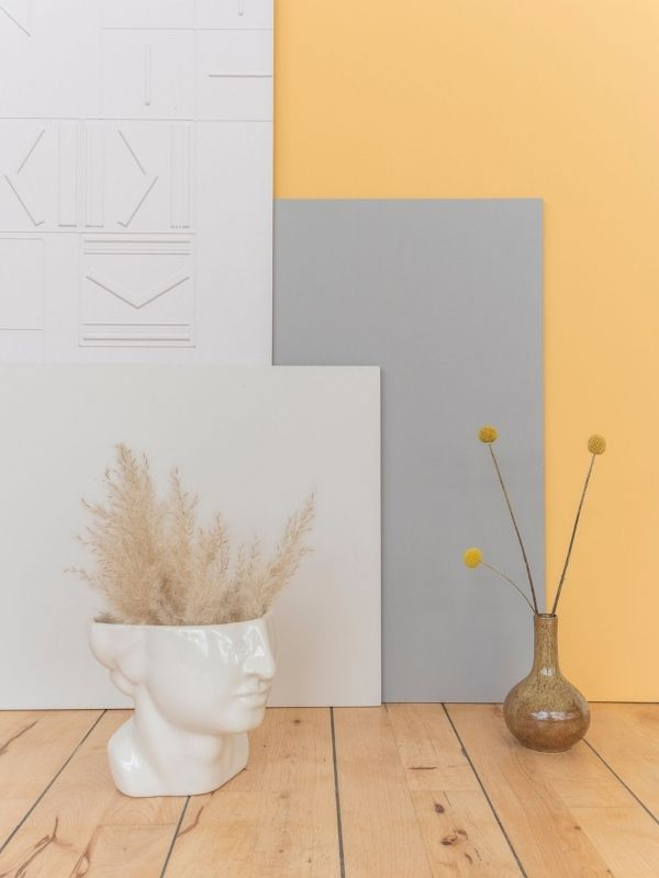 Gelbe Wandfarbe