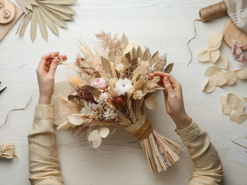 Trockenblumenstrauß selber basteln