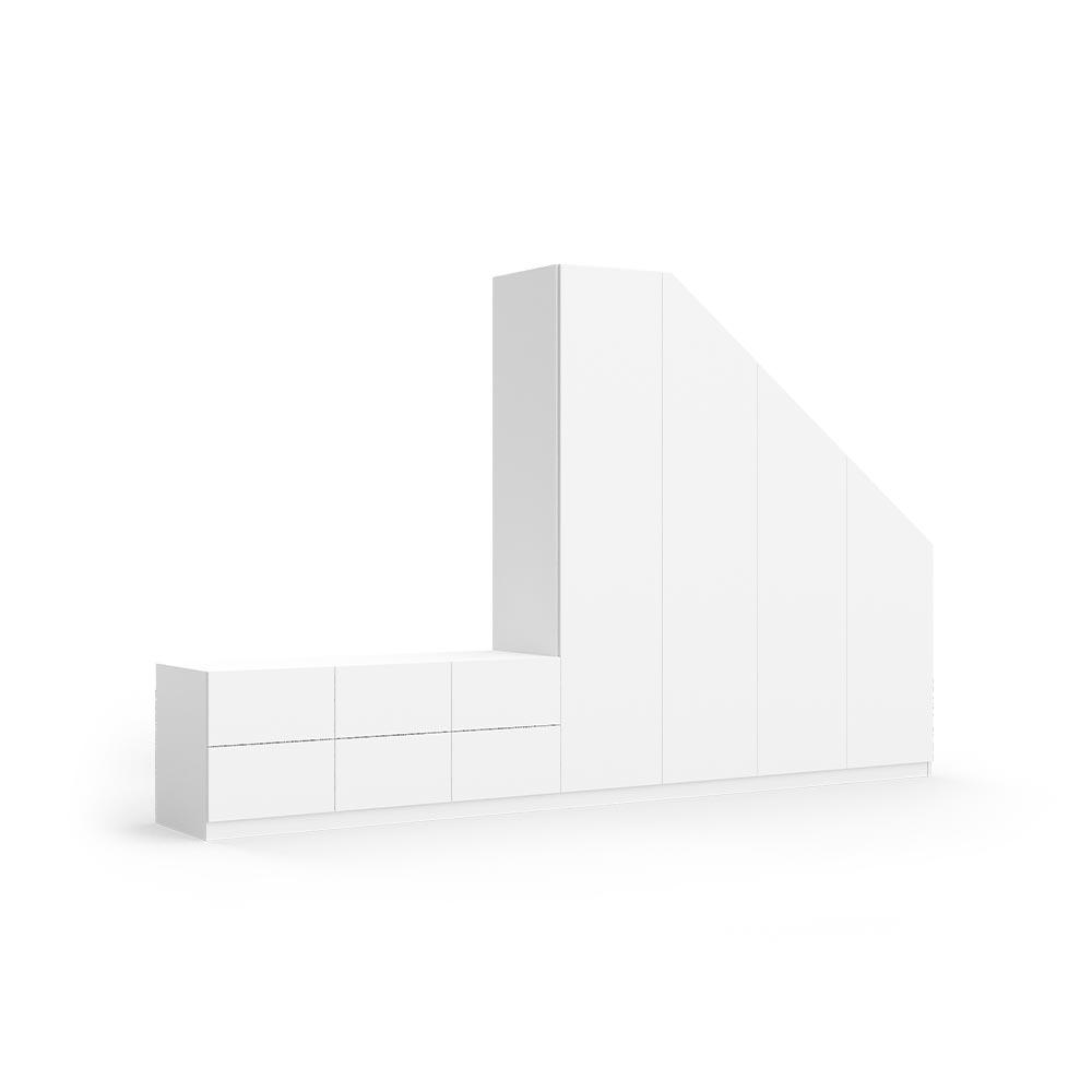 """Image of Schrank mit Dachschräge rechts und Sitzfläche links Modell """"Benjamin"""""""