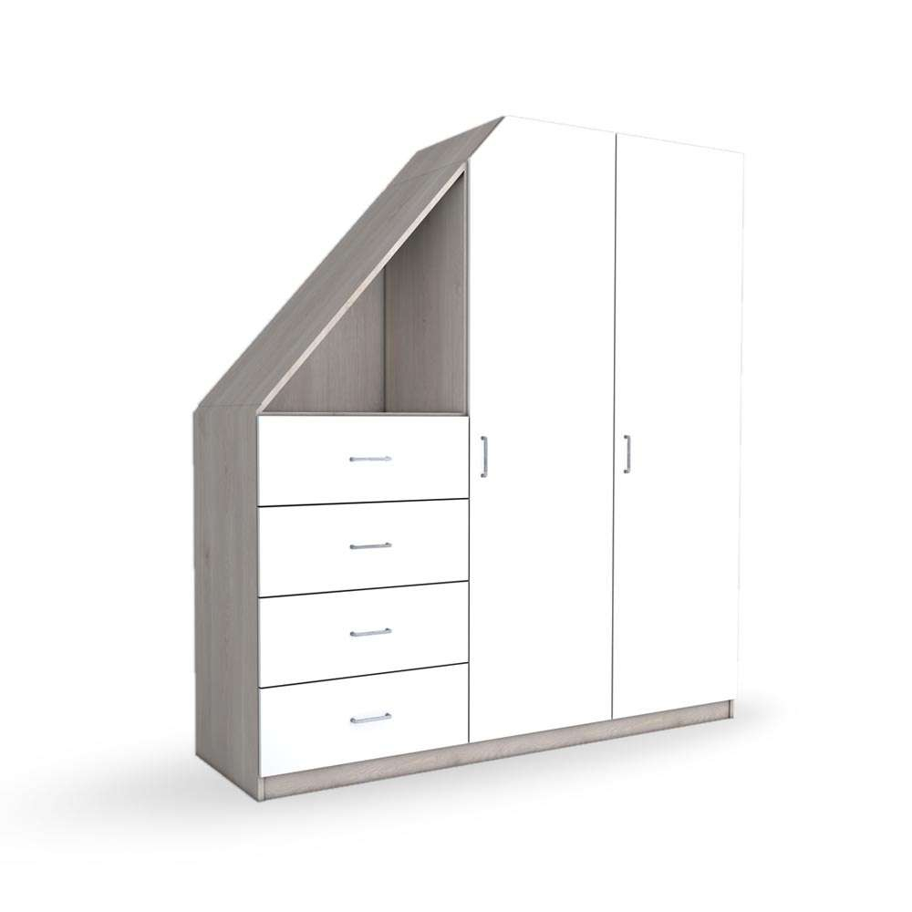 """Image of Holzschrank Weiß """"Ludwig"""""""