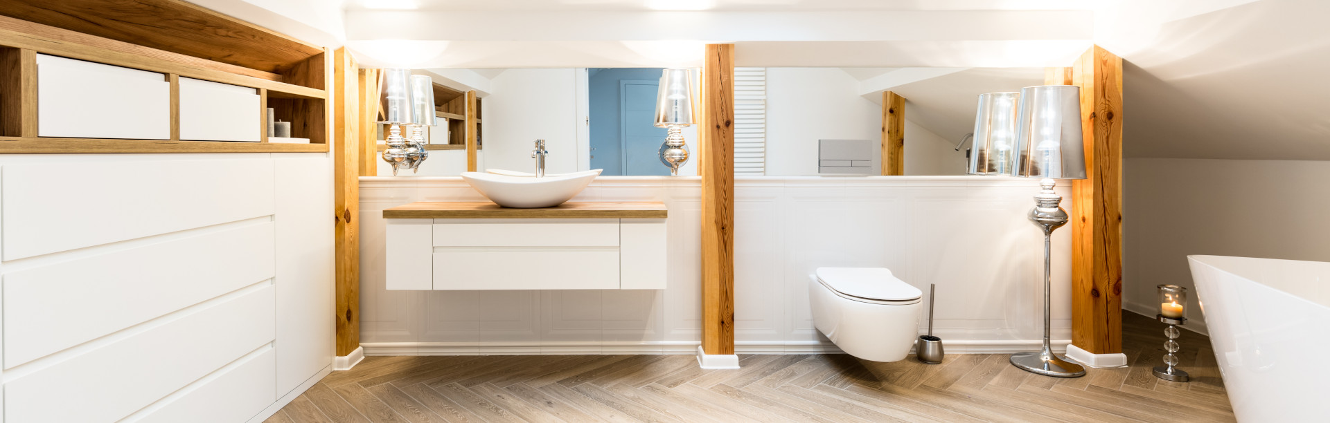 Schrank für Dachschrägen im Badezimmer online planen ...