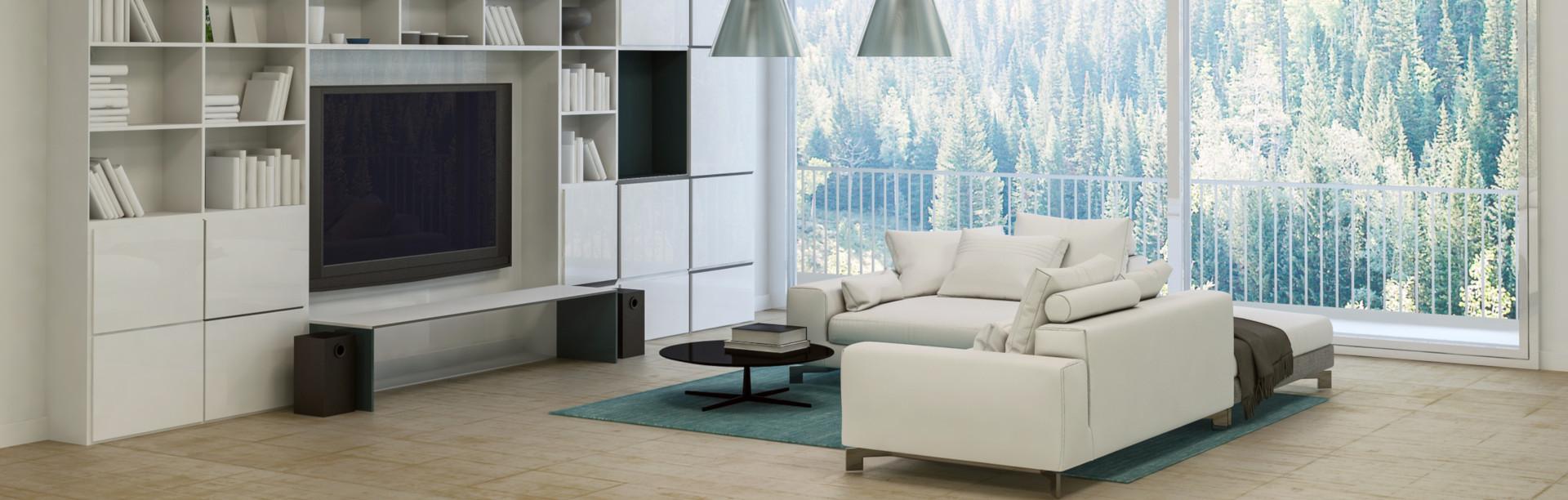 Wohnzimmer Regalsystem nach Maß planen